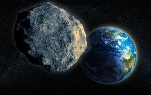 Mopic/Nasa/TT En rekonstruktion av den asteroid som utplånade dinosaurierna. En mindre asteroid svepte förbi jorden i torsdags. Arkivbild