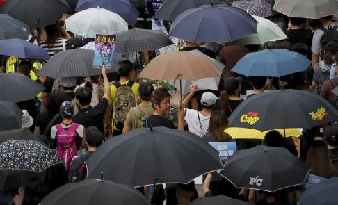 Vincent Thian/AP/TT Protesterna i Hongkong fortsätter.