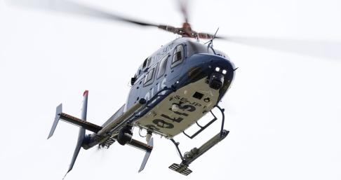 Johan Nilsson/TT En polishelikopter deltog i insatsen före gripandet i Göteborg. Arkivbild.