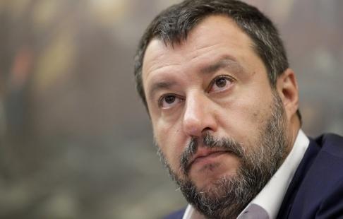 Andrew Medichini/AP/TT Det antagna dekretet är en seger för Italiens inrikesminister Matteo Salvini. Arkivbild.
