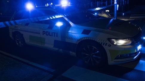 Johan Nilsson/TT Dansk polis ryckte ut med många patruller efter larmen. Arkivbild.
