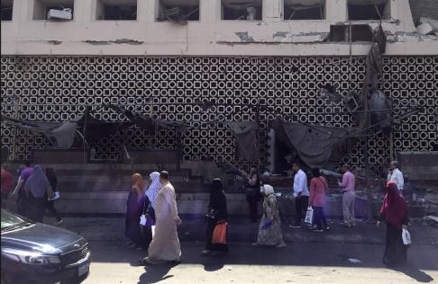 Maya Alleruzzo/AP/TT Platsen för måndagens explosion i Kairo. Arkivbild.