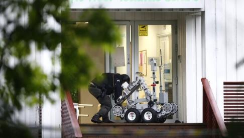 Terje Pedersen/NTB/TT al-Noor Islamic Centre i Bærum några mil från Oslo efter attacken.