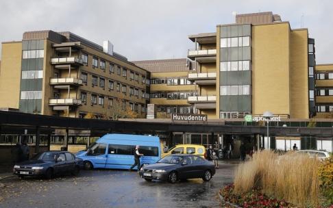 Patienten dog efter undersökningen på Norra Älvsborgs sjukhus i Trollhättan. Arkivbild.