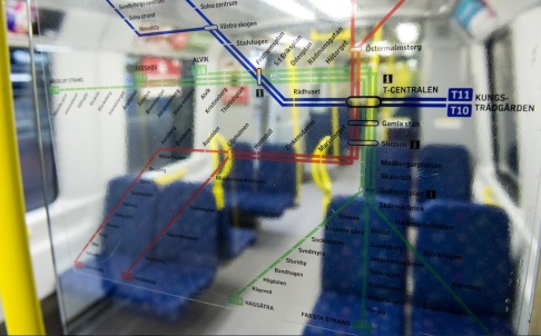 Marcus Ericsson/TT Samtliga tunnelbanevagnar i Stockholm ska kameraövervakas. Arkivbild.