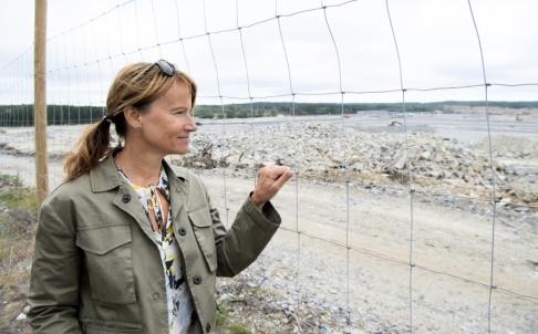 """Henrik Montgomery/TT """"Det kommer att bli en förändring. Men för att kunna klara framtiden och välfärden så är det här en fantastisk sak för en plats som Skellefteå"""", säger kommundirektören Kristina Sundin Jonsson om vad Northvolt kan innebära för staden."""