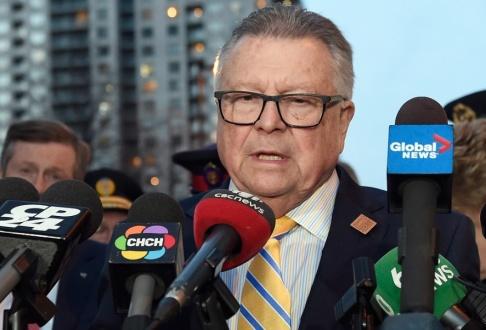 Nathan Denette/AP/TT Kanadas inrikesminister Ralph Goodale, vars stab kritiserat Storbritanniens drag. Arkivbild.