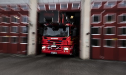 Pontus Lundahl/TT Personal från flera brandstationer skickades till olycksplatsen. Arkivbild.