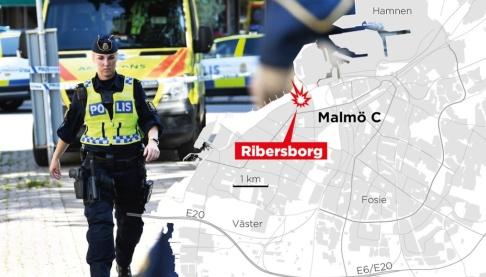 Johan Hallnäs/TT En kvinna sköts till döds på måndagsmorgonen i Malmö.