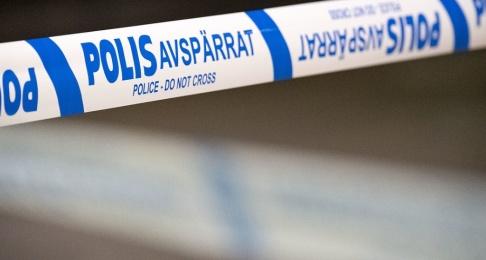 Johan Nilsson/TT Polisen har spärrat av ett område i Västerås. Arkivbild.