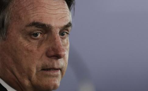 Eraldo Peres/AP/TT Brasilens president Jair Bolsonaro. Arkivbild.