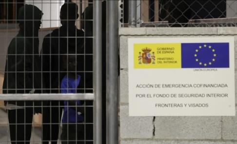 Sergio Rodrigo/AP/TT En anläggning för nyanlända migranter i Málaga, Spanien. Bild från slutet av augusti.