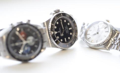 Torstein B e/NTB Scanpix/TT Exklusiva klockor har varit föremål för en rånvåg i Stockholm. Nu har polisen lyckats slå tillbaka. Arkivbild.