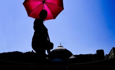 Ciro Fusco/AP/TT Årets augustimånad blev den näst varmaste som uppmätts. Arkivbild.