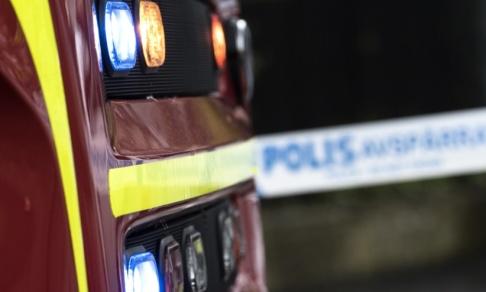 Johan Nilsson/TT Polis och räddningstjänst larmades om ett brandbombsattentat i Malmö natten till söndag. Arkivbild.