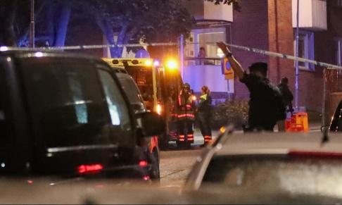 Claus Meyer/TT Minst två skottlossningar har ägt rum i Nacka på söndagskvällen.
