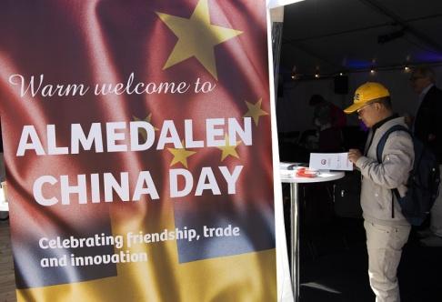 Henrik Montgomery/TT Under årets Almedalsvecka i Visby hade Kina en monter.