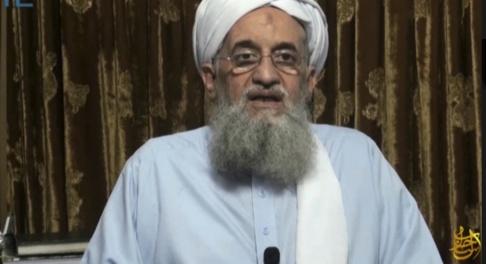 Site via AP/TT Ayman al-Zawahri i en video som publicerades av terrorrörelsen al-Qaida 2014. Arkivbild.