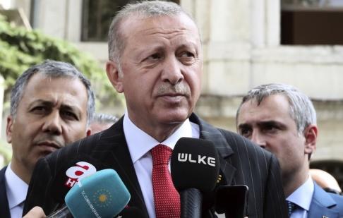 TT/AP Turkiets president Recep Tayyip Erdogan.