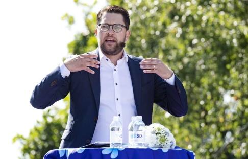 Johan Nilsson/TT Sverigedemokraternas stöd ökar till den högsta notering någonsin i Sifos mätningar. Arkivbild.