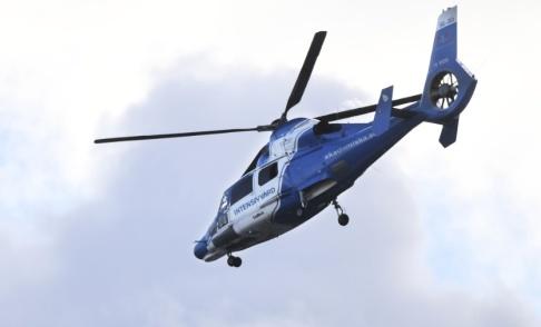 Fredrik Sandberg/TT En ambulanshelikopter besköts med laser. Arkivbild.
