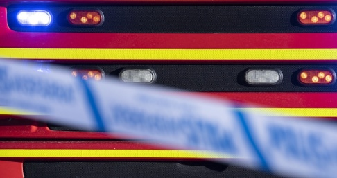 Johan Nilsson/TT 10–15 bilar sattes i brand i Askim i natt. Arkivbild.