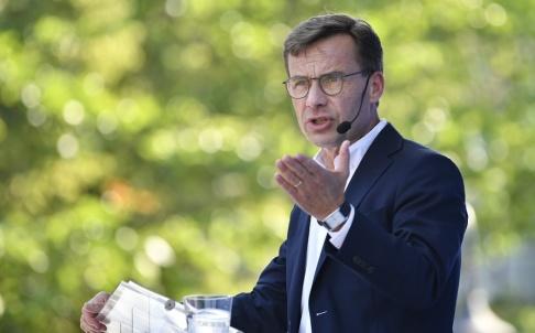 Anders Wiklund/TT Ulf Kristersson (M) säger att regeringen inte är beredd att göra vad som krävs. Arkivbild.