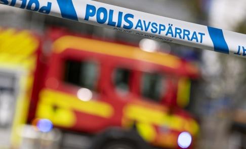 Johan Nilsson/TT Det brinner i ett nedlagt slakteri i Hultsfred. Arkivbild.