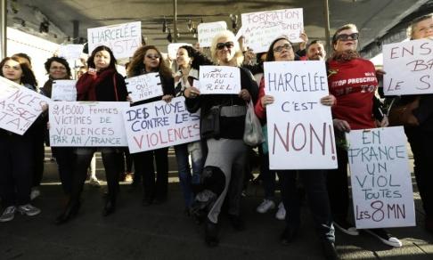 Claude Paris/AP/TT Metoo-rörelsen hade stort genomslag även i Frankrike. Här en demonstration i Marseille i oktober 2017. Arkivbild