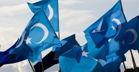 Jonas Ekströmer/ TT Flaggan för Östturkestan, en stat som har existerat två gånger – under 30 och 40-talet, är en symbol för många uigurer