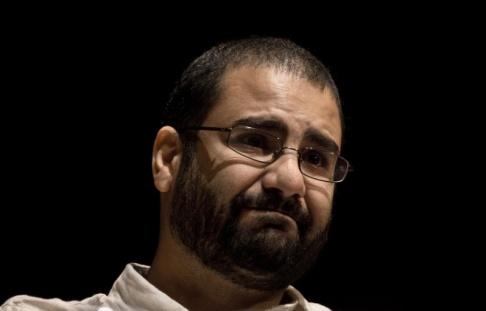 Nariman El-Mofty/AP/TT Den kände egyptiske demokratiaktivisten Alaa Abdel Fattah på en bild från 2014. Arkiivbild.