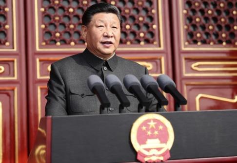 Ju Peng/Nya Kina/AP/TT Xi Jinping talar på samma plats som Mao höll sitt tal för 70 år sedan.