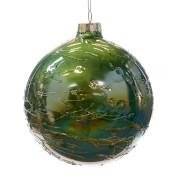 Glaskula grön med trådar