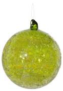 Glaskula i grön lyster