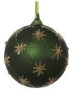Glaskula matt mörkgrön
