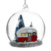 Glaskupol med husvagn
