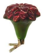 Julgransprydnad i matt röd/grön