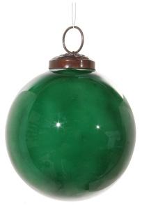 Glaskula emaljerad grön