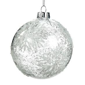 Glaskula transparent med snöflinga