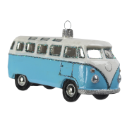 Retro buss ljusblå