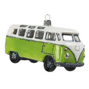 Retro buss ljusgrön
