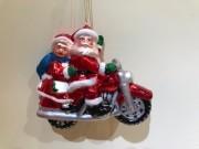 Tomte & tomtemor på motorcykel