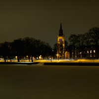 Lidköping Nicolai ka över älva kväll vinter-