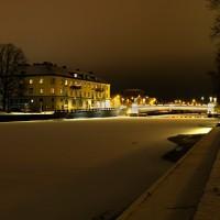 Lidköping körbrona kväll vinter-