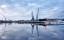 Lidköpings hamn vinter-