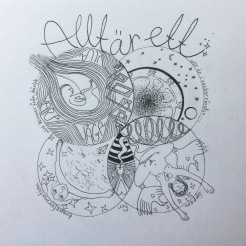 """Personlig Mandala """"Allt är ett"""""""