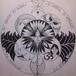"Personlig Mandala ""As above so below"""