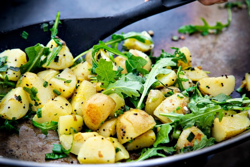 På tallrikens bryntaa potatis Italien Style