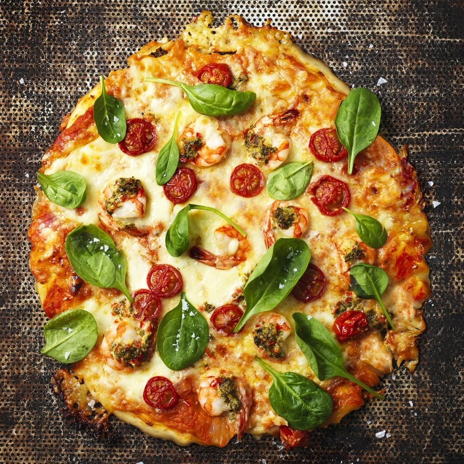 Pizza Gambero med gremolata