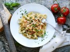Räkpasta-pasta med räkor-Smarrig räkpasta på en kvart!